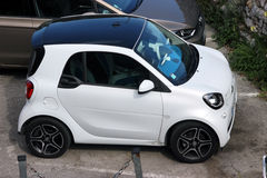 White Smart ForTwo Royalty Free Stock Photography