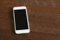 White smart phone with black screen Stock Photo