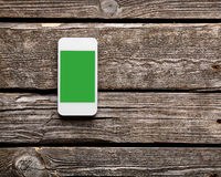 White smart phone with isolated screen Royalty Free Stock Photo