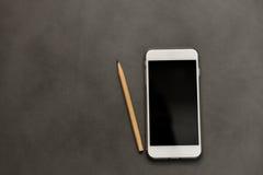 White smart phone Stock Image