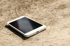 White smart phone Stock Photography