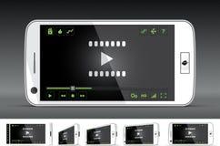 White Smart Phone Video Player stock illustration