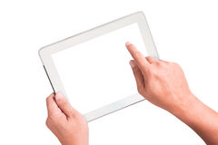 White smart touchpad pc Royalty Free Stock Images