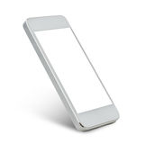 White smarthphone with blank black screen Royalty Free Stock Photos