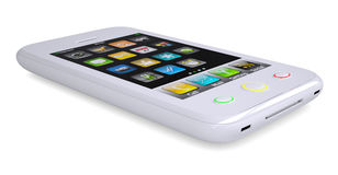 White smartphone Stock Images