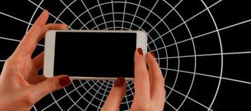 White Smartphone Royalty Free Stock Photo