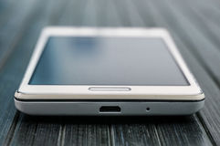 White smartphone closeup Royalty Free Stock Photography