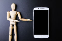 White smartphone concept on dark background Stock Images