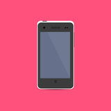 White Smartphone icon in flat design Royalty Free Stock Photos