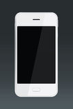 White smartphone isolated on black background Royalty Free Stock Photos