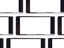 White smartphone screen. Multiple smartphone screen Royalty Free Stock Photos