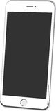 White smartphone vector isolated Stock Photos