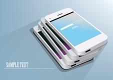 White smartphones Royalty Free Stock Photos