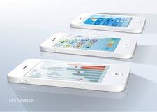 White Smartphones Stock Photography