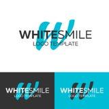 White Smile logo. Letter W logo. Vector logo template. Logotype concept. White Smile logo. Letter W logo. Vector logo template. Logotype concept vector illustration