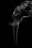 White smoke on black background. Abstract Royalty Free Stock Photography