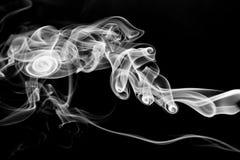 White smoke on black background Stock Image