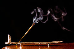 White smoke on a black background Royalty Free Stock Photography
