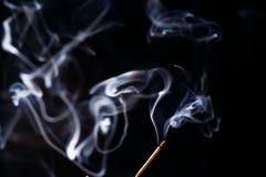 White smoke on a black background Stock Photo