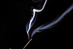White smoke on a black background Royalty Free Stock Image