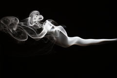 White smoke on a black background Stock Images