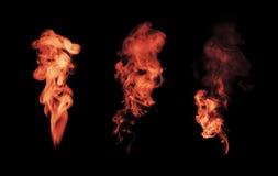 White smoke  on black Stock Image
