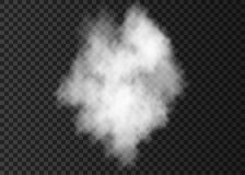 White  smoke bomb effect  isolated on transparent background. White  smoke bomb isolated on transparent background.  Steam explosion  effect.  Realistic  vector Stock Images