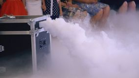 White smoke out of the box. White smoke from the box for celebrations stock video