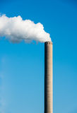White smoke from a chimney Stock Photo