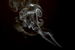 White smoke collection on black background royalty free stock photography