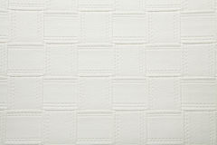 Artificial fabric large square web texture white smoke color Stock Photography