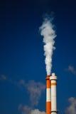 White smoke pollution Stock Image
