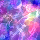 White smoke on purple brush strokes background. Vector version royalty free illustration