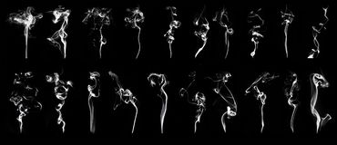White smoke Royalty Free Stock Photos