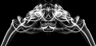 White smoke in the shape of a figure Royalty Free Stock Images