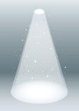 White smoke spotlight Royalty Free Stock Image