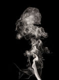 White smoke swirls Royalty Free Stock Image