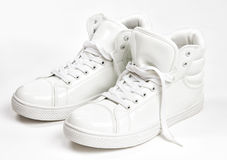 White sneakers Stock Photography