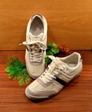 White sneakers Royalty Free Stock Image