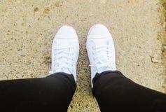 White sneakers Royalty Free Stock Photo