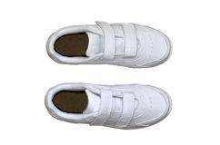 White sneakers Royalty Free Stock Images