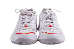 White sneakers on white Stock Image