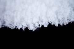 White snow on black background Stock Image