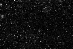 White snow on black background Royalty Free Stock Photos