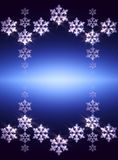 The white snow on the blue background, winter and Christmas them Stock Photos