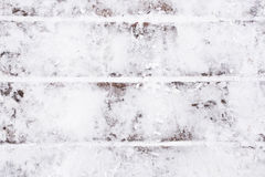 White snow on the boards. Winter background for design Royalty Free Stock Image
