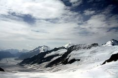 White Snow-capped Mountain Royalty Free Stock Photography