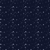 White snow falling on dark background Royalty Free Stock Images