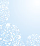 White snow flacks background Stock Image