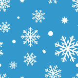 White snow- flakes Royalty Free Stock Photos